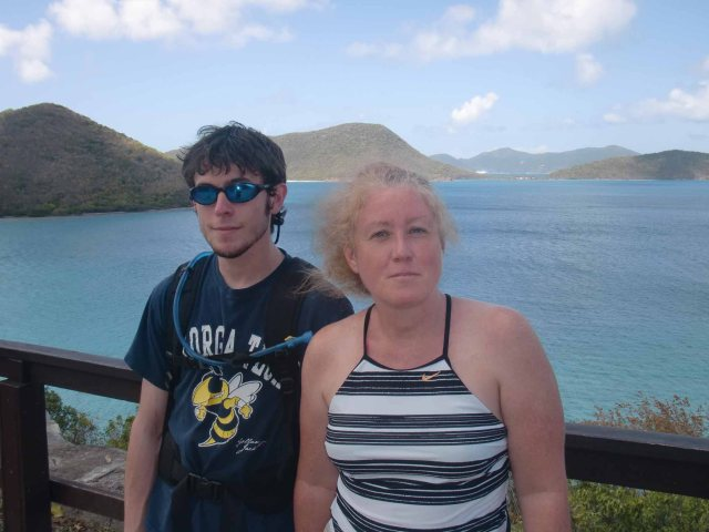 Daniel & Eileen at Annaberg overlooking Leinster Bay
