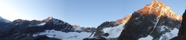 Alpenglow on the Watzespitze and Kaunergrat.