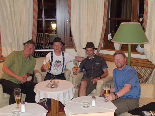 Planning  our Braunschweiger Hütte ascent at the Hotel Wildspitze.