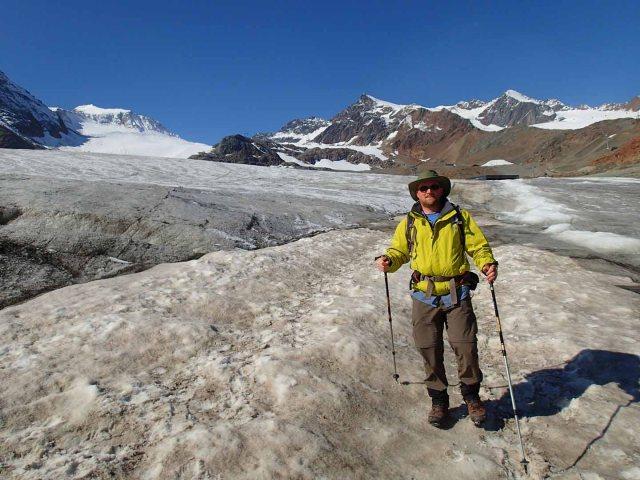 Ben on the Mittelberg Glacier.