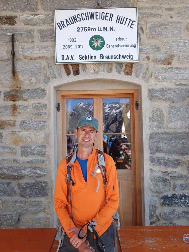 Me at Braunschweiger Hütte, August 2013