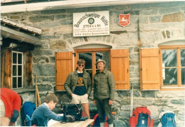 Me at Braunschweiger Hütte, July 1984.