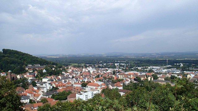 Landstuhl view from Burg Nanstein
