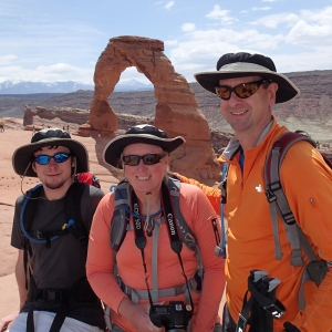 Crew picture at Delicate Arch