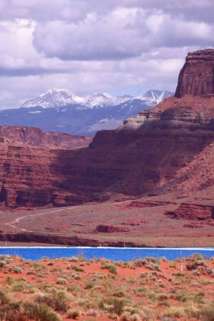 Potash mine and La Sal Mountains