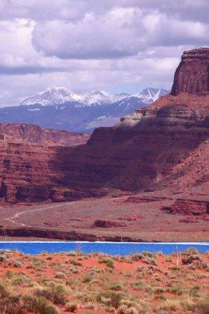 Potash mine and La Sal Mountains