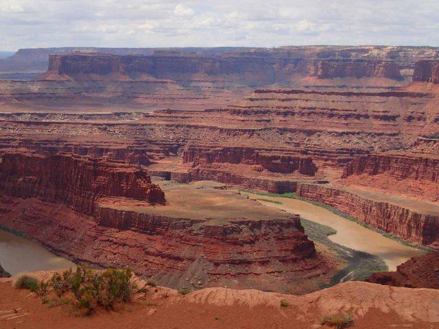 Colorado River bend overlook