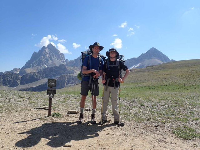 Hurricane Pass, with Tetons & posers