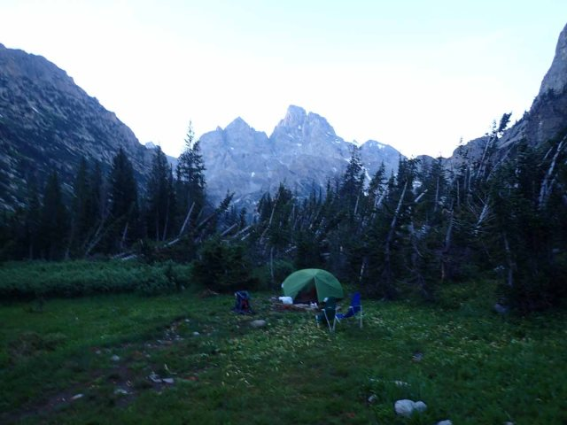 Our North Fork Cascade Canyon campsite