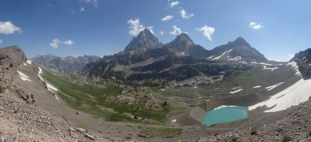 Hurricane Pass, Cascade Canyon & Tetons