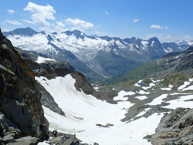 looking west, from saddle of Mörchenscharte