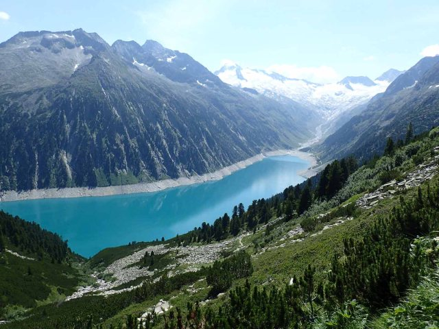 Schlegeisspeicher view, ascending to Olpererhütte