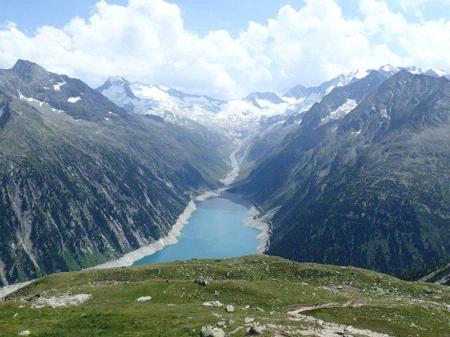 Schlegeisspeicher view from Olpererhütte