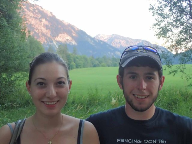 Hannah and Daniel, re-united in Ruhpolding