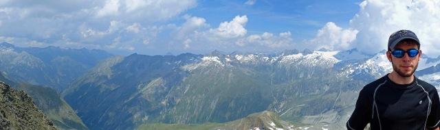 Schönbichler Horn panorama with Daniel